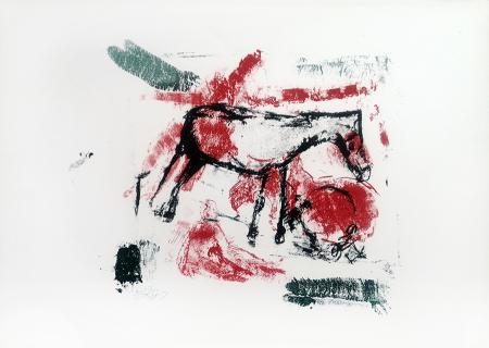 Quadro di Emanuele Cappello Composizione con animali - litografia carta