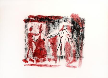Quadro di Emanuele Cappello Composizione con musica - litografia carta