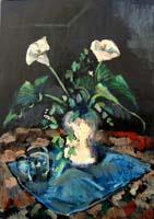 Quadro di Luigi Pignataro - Vaso con fiori olio tavola