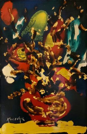 Artwork by Enzo Kocevar, enamel on table | Italian Painters FirenzeArt gallery italian painters