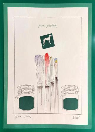 Art work by Fabio De Poli fare pittura - lithography paper