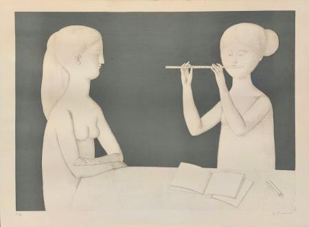 Quadro di Antonio Bueno Concertino - litografia carta