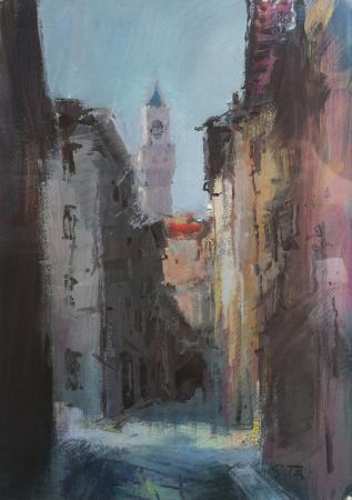 Art work by Gino Tili Verso P. Signoria - acrylic paper
