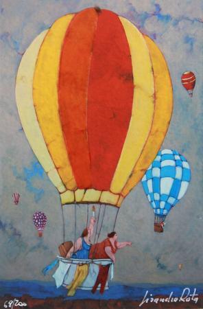 Art work by Lisandro Rota Migrazione di casalinghe - graphics paper
