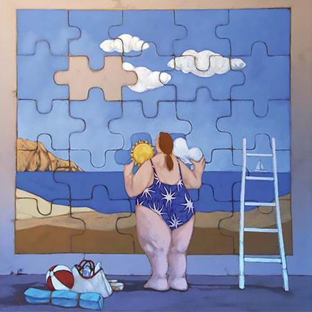 Quadro di Lisandro Rota La vita è un puzzle - grafica carta