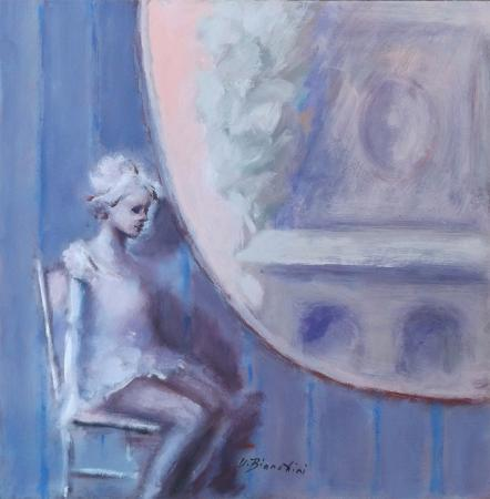 Quadro di Umberto Bianchini Balcone - mista tavola