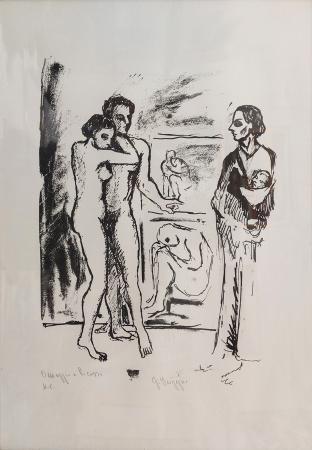 Art work by firma Illeggibile Omaggio a Picasso  - print paper