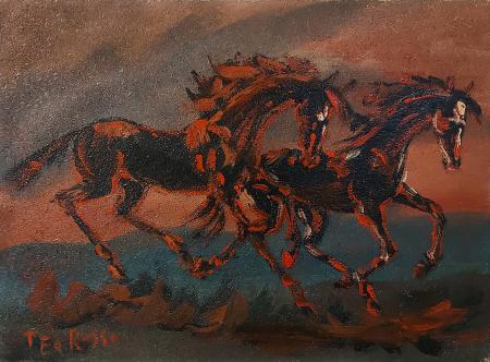 Quadro di Teo Russo Cavalli - olio tavola