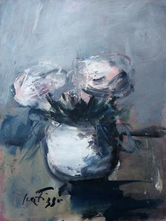 Quadro di Sergio Scatizzi Vaso di fiori - Pittori contemporanei galleria Firenze Art