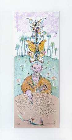 Quadro di Antonio Possenti La creatività  - litografia carta