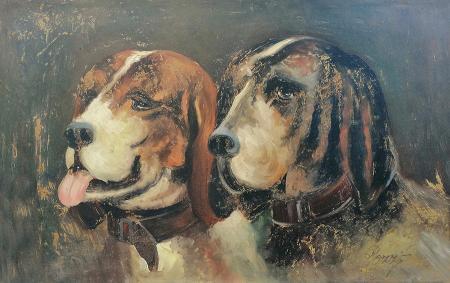 Quadro di  Pozzi Cani - olio tavola