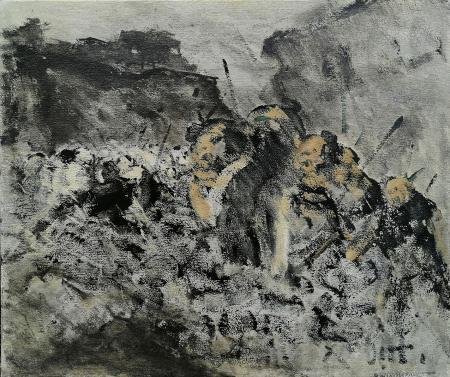 Quadro di Alvaro Danti Senza titolo - olio tela