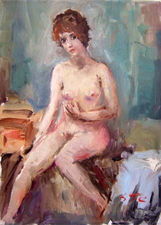 Quadro di Gino Tili Nudo - olio tela