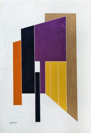 Art work by Gualtiero Nativi Composizione - acrylic paper on canvas