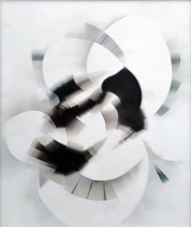 Art work by Piero Arrighini Bianco nero - oil canvas