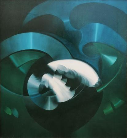 Art work by Piero Arrighini Incontri - oil canvas