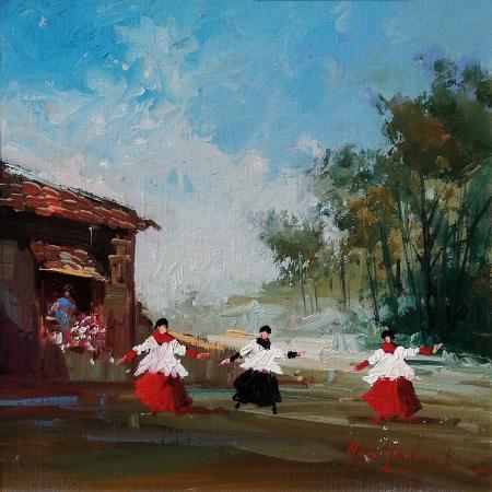 Quadro di Norberto Martini Studio di paesaggio - olio tela