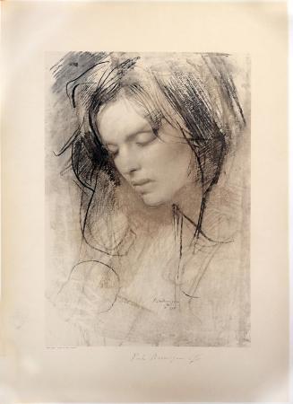 Quadro di Pietro Annigoni Betty Jane - stampa carta