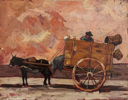 Quadro di Carlo Fabbrini Carretto - olio faesite