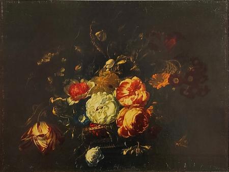 Quadro di  Anonimo Composizione di fiori - olio faesite