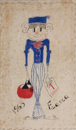 Quadro di  Franca Figura in divisa - mista cartone telato