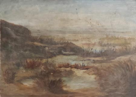Quadro di  Anonimo Paesaggio - olio faesite