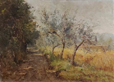 Quadro di Graziano Marsili Via della pietrosa - Bagno a Ripoli - olio tela