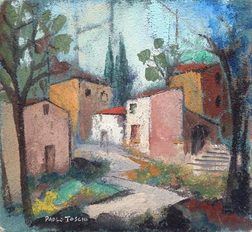 Quadro di Paolo Toschi Paesaggio - olio tavola