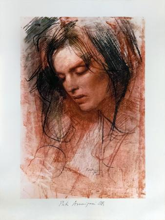 Quadro di Pietro Annigoni Volto di donna - litografia carta