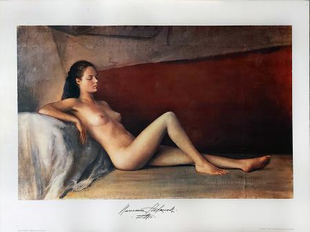 Quadro di Romano Stefanelli Modella dormiente - stampa carta