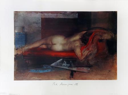 Quadro di Pietro Annigoni Modella in posa di schiena - Pittori contemporanei galleria Firenze Art