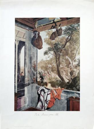 Quadro di Pietro Annigoni Pitture murali in casa della Contessa Margherita Venoresi Pesciolini - stampa carta