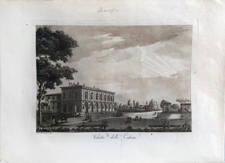 Quadro di  Antiquariato Veduta delle cascine - Firenze - stampa carta