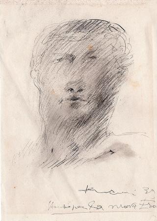 Art work by Roberto Barni Studio per la nuova era  - lapis paper