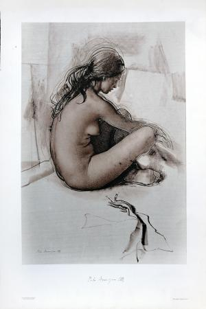 Quadro di Pietro Annigoni Studio di nudo n 2  - stampa carta