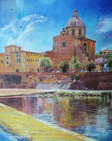Quadro di Andrea Alfani  Chiesa di San Frediano in Cestello - olio tavola