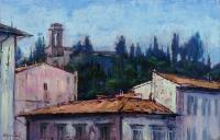 Mario Minarini - Monte Oliveto con la chiesa di S. Bartolomeo