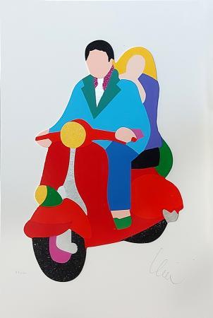Quadro di Marco Lodola  50 special - serigrafia polimaterica carta