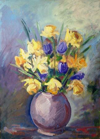 Quadro di vedda fiori for Fiori dipinti a olio
