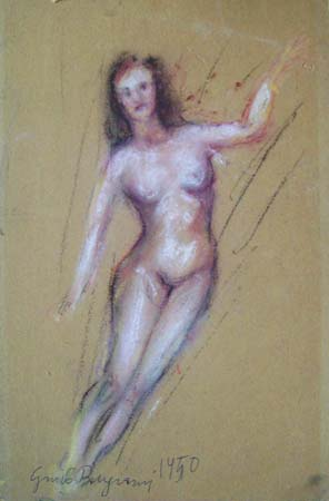 Art work by Guido Borgianni Nudo - pastel cardboard