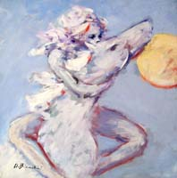 Quadro di Umberto Bianchini - Cavalcare verso il sole mista tavola