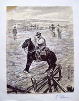 Quadro di Giuliano Palcucci - A cavallo mista carta
