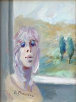 Quadro di Umberto Bianchini - Balcone olio tela