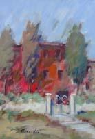 Quadro di Umberto Bianchini  La casa rossa