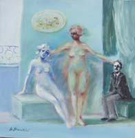 Work of Umberto Bianchini - Cuori solitari oil canvas