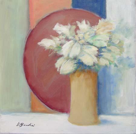 Quadro di Umberto Bianchini Vaso con fiori - mista tela
