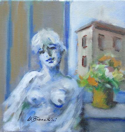 Art work by Umberto Bianchini Balcone - mixed canvas