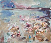Work of Emanuele Cappello - Marina oil canvas