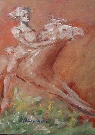 Quadro di Umberto Bianchini Amazzone - olio tela