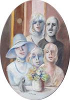 Quadro di Umberto Bianchini - Foto di famiglia olio tela